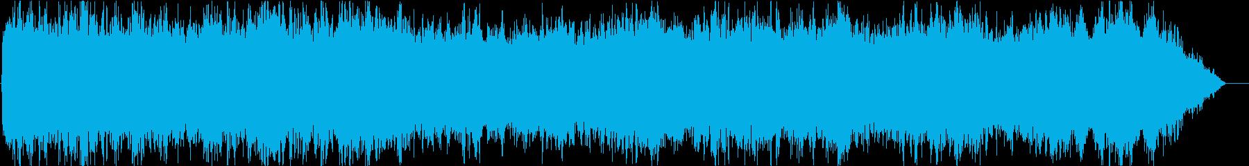 パイプオルガンとコーラス主体の教会BGMの再生済みの波形