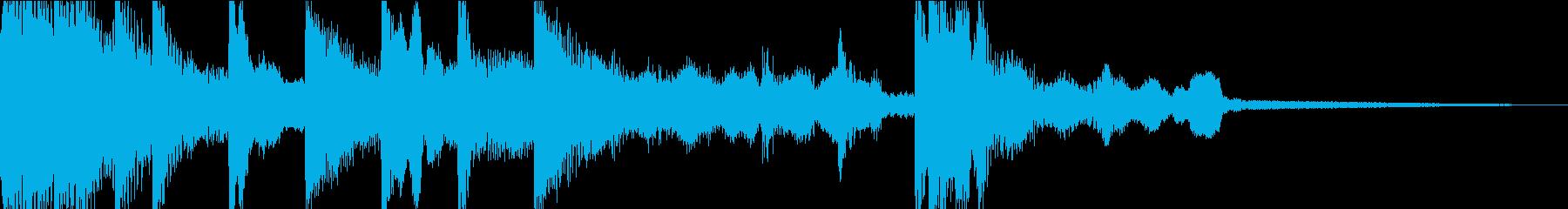 琴と尺八の和風な音のジングルの再生済みの波形
