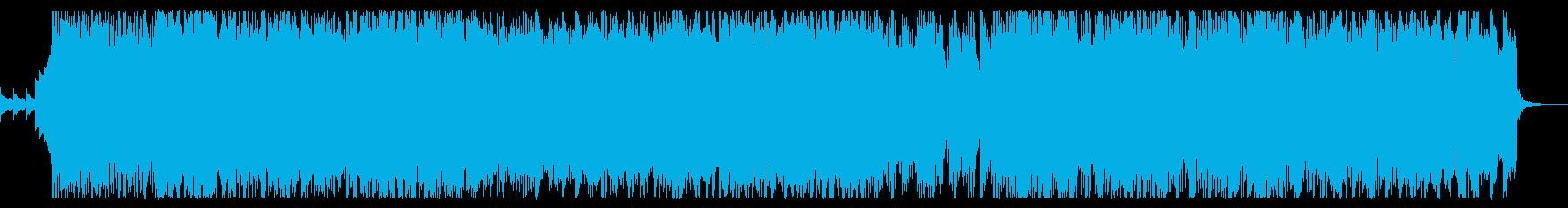 テンション高い疾走ポップロックの再生済みの波形