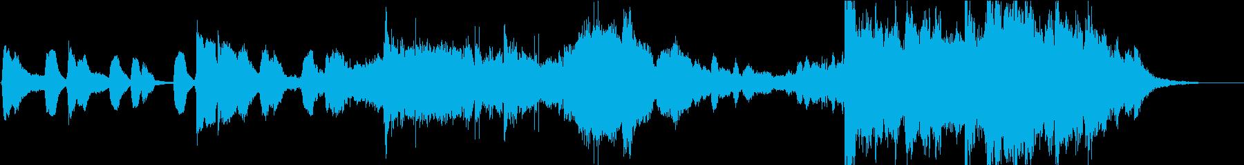 ピアノが印象的なアート系30秒の再生済みの波形