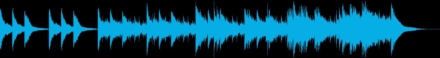 感動系ピアノソロの再生済みの波形