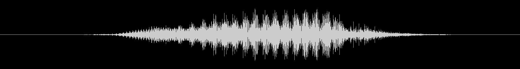 鳴き声 男性のうめき株11の未再生の波形