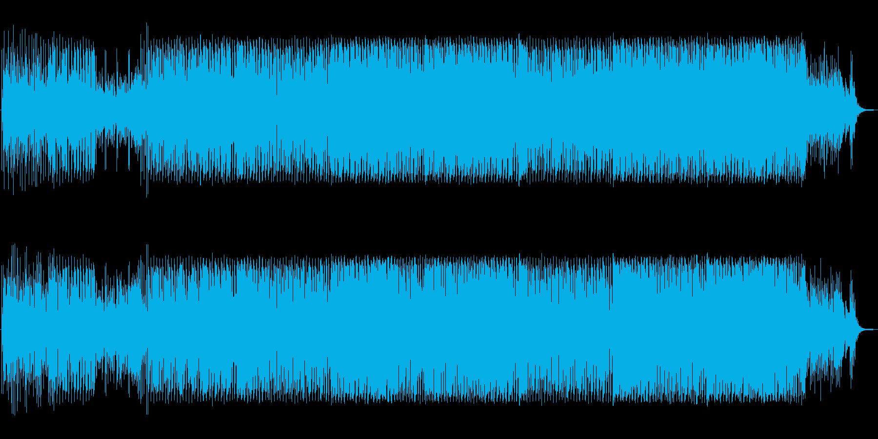 オープニング向きトロピカルピアノハウスの再生済みの波形