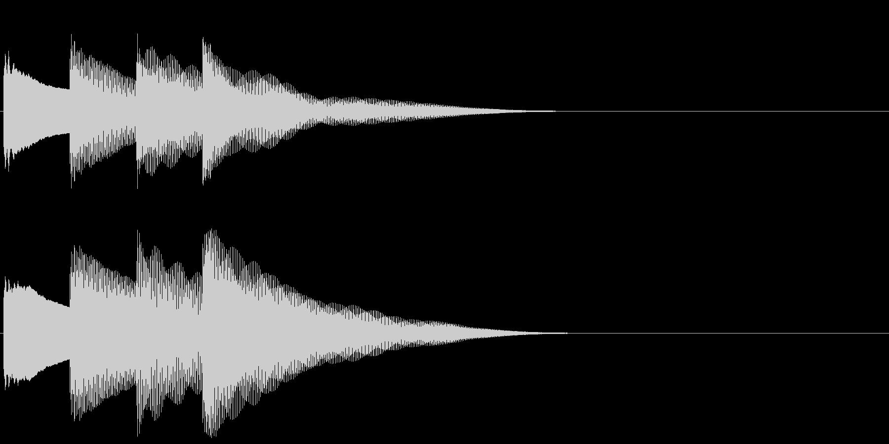 ピンポンパンポン 上昇(館内放送開始)の未再生の波形
