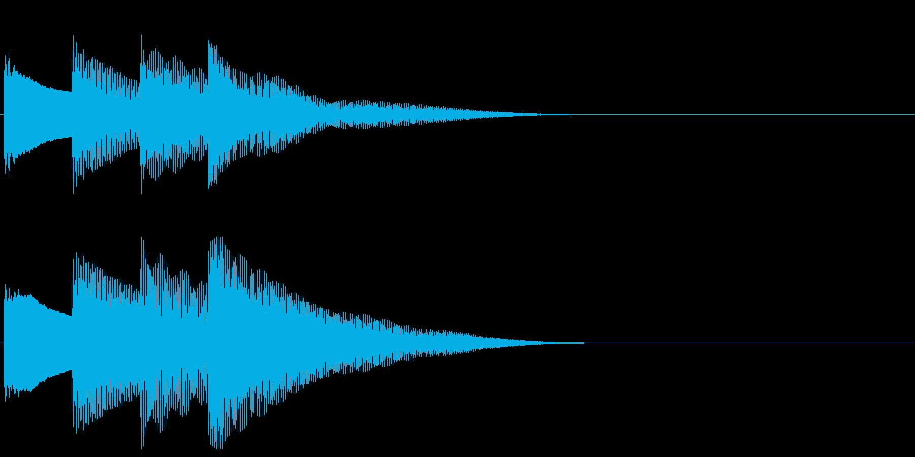 ピンポンパンポン 上昇(館内放送開始)の再生済みの波形
