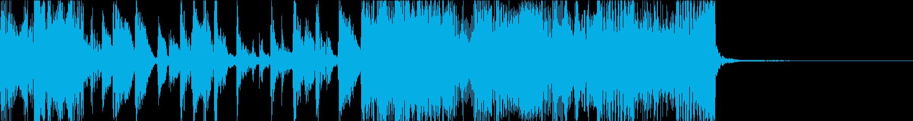 ダーティーなギタージングルの再生済みの波形