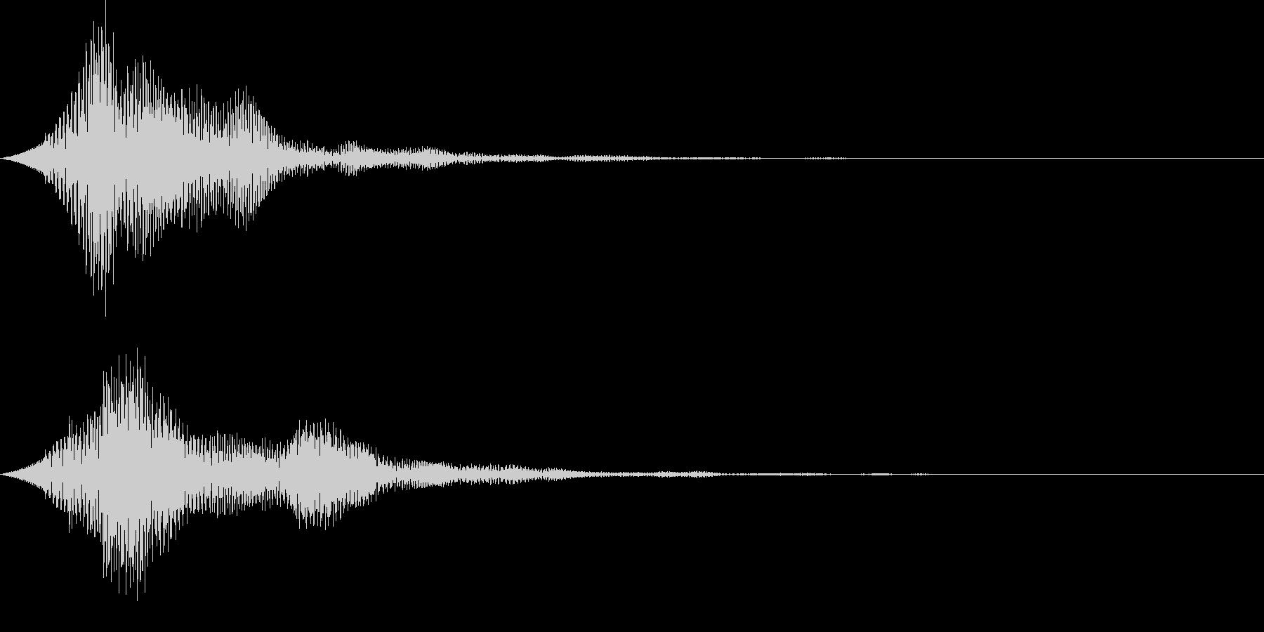 UI ピロリン やわらかい決定音の未再生の波形