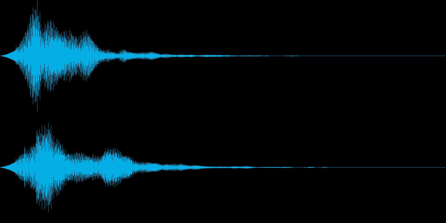 UI ピロリン やわらかい決定音の再生済みの波形