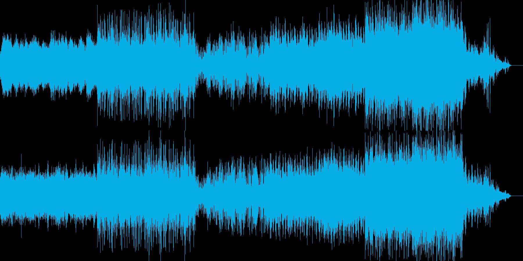 映像、背景的音楽ー濃霧の再生済みの波形