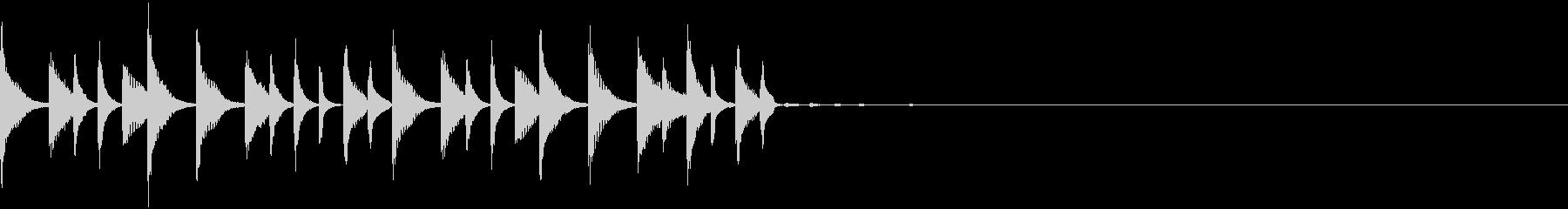 スローなトラップジングルの未再生の波形