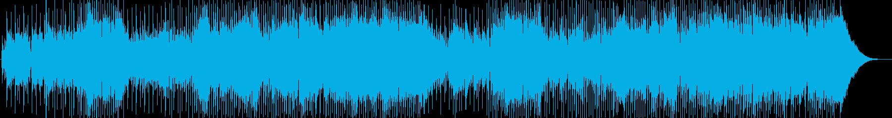 ギターとブルースハープのハードロックの再生済みの波形