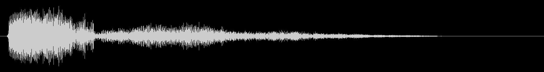 マウスオーバーの効果音の未再生の波形
