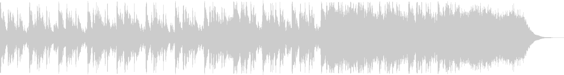 マーチング風の知的なBGMの未再生の波形