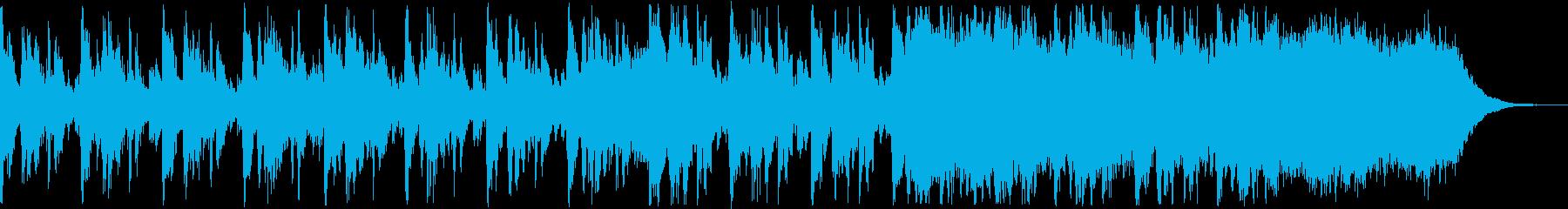 マーチング風の知的なBGMの再生済みの波形