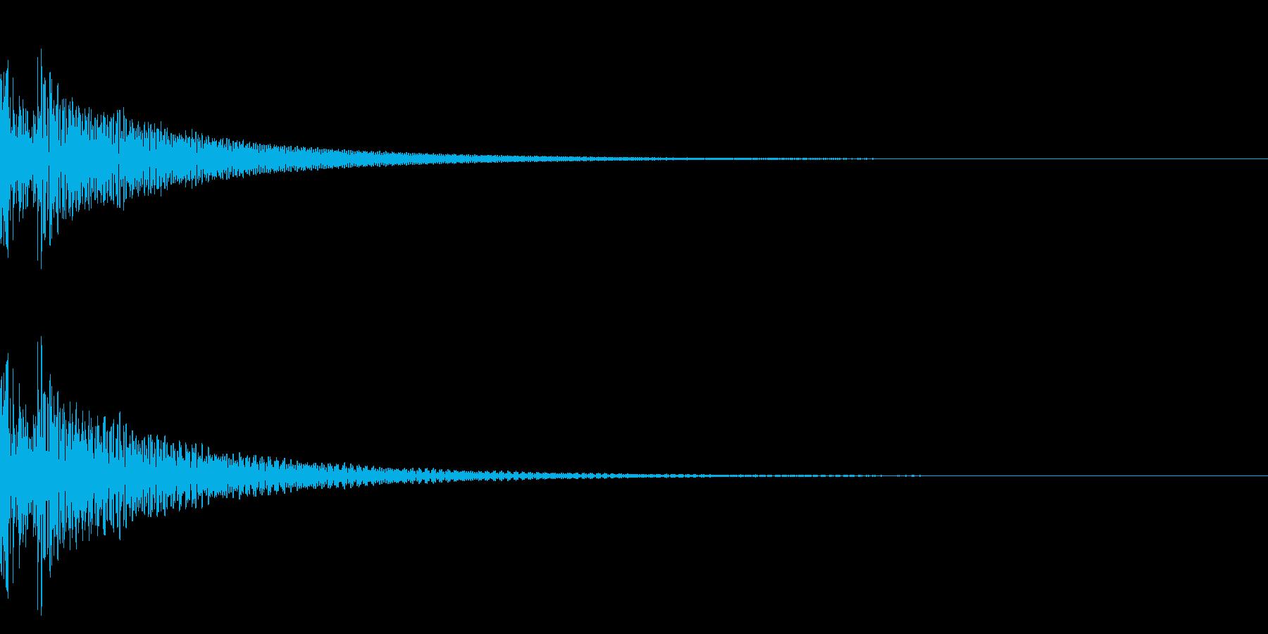 ドドン(和太鼓二発)の再生済みの波形