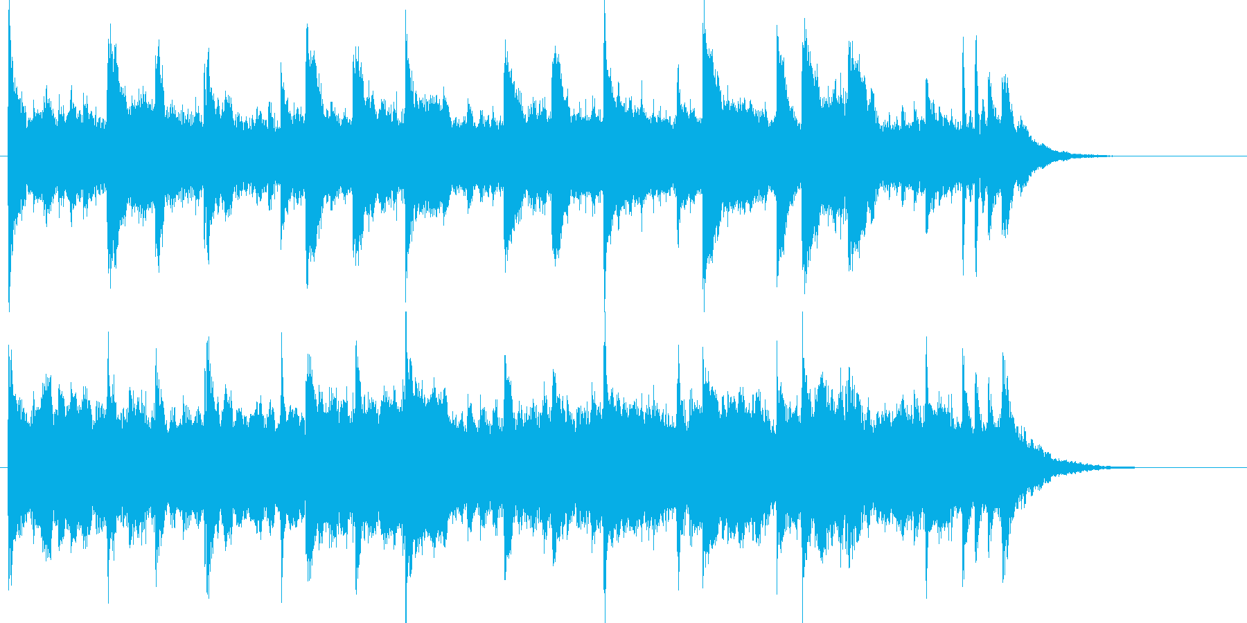 クリーン エレキギター アンビエントの再生済みの波形