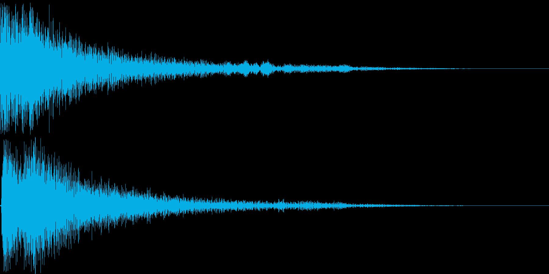 和風ボタン音、決定音の再生済みの波形
