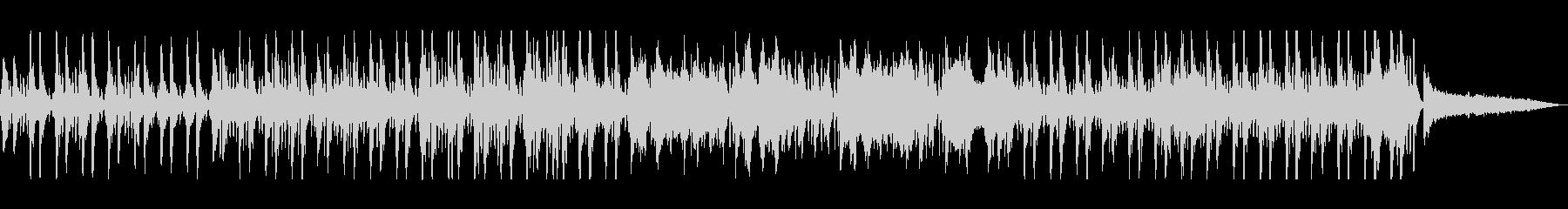 ストリングスとドラムスの小刻みの行進曲の未再生の波形