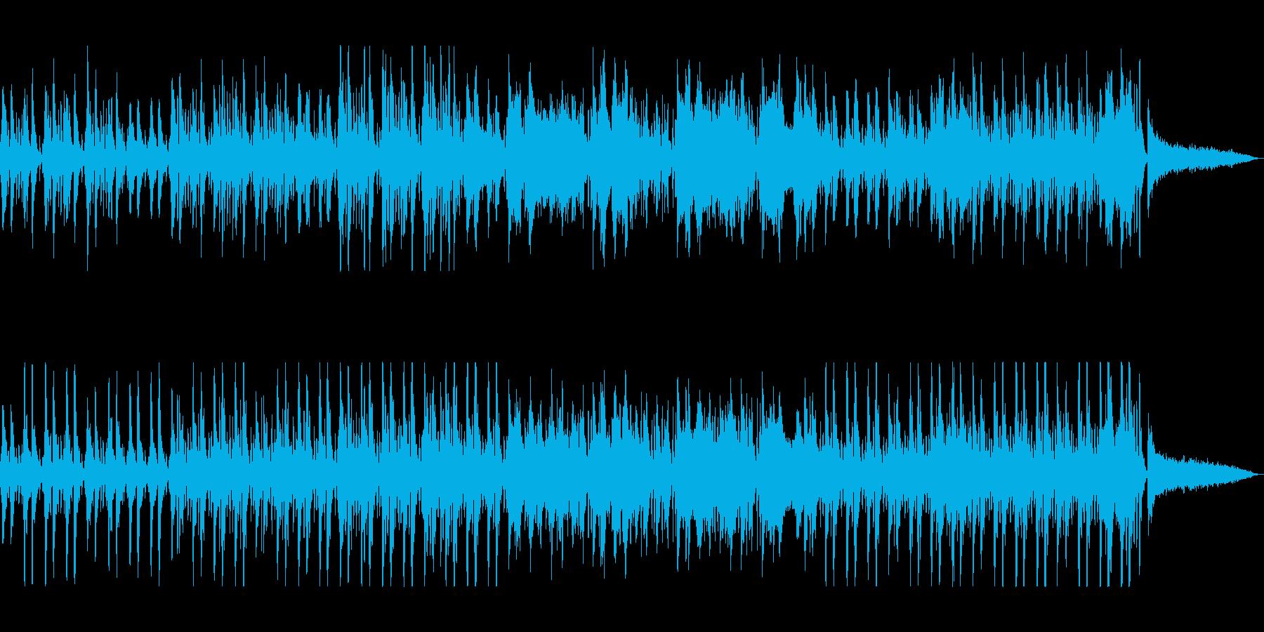 ストリングスとドラムスの小刻みの行進曲の再生済みの波形