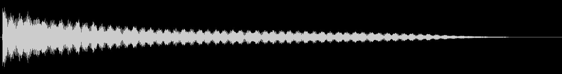 ラージゴング:ソフトヒットの未再生の波形