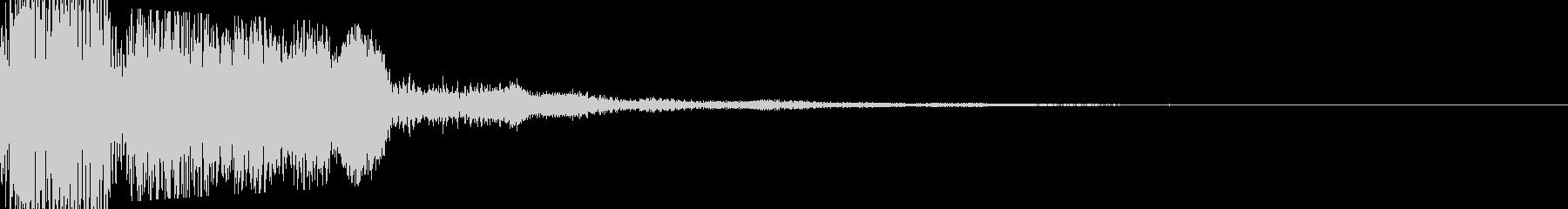 キラキラしたボタン音の未再生の波形