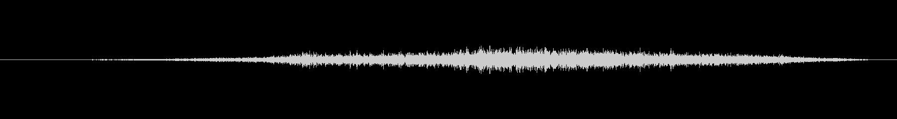 爬虫類 シューという音02の未再生の波形