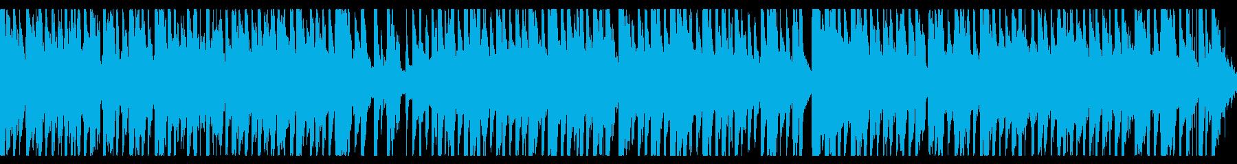 民族風哀愁漂うコミカルBGM(loop)の再生済みの波形
