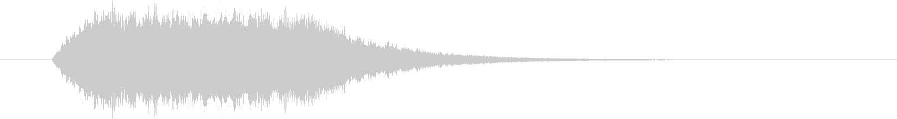 ワープ・光属性魔法の効果音(キーン)の未再生の波形
