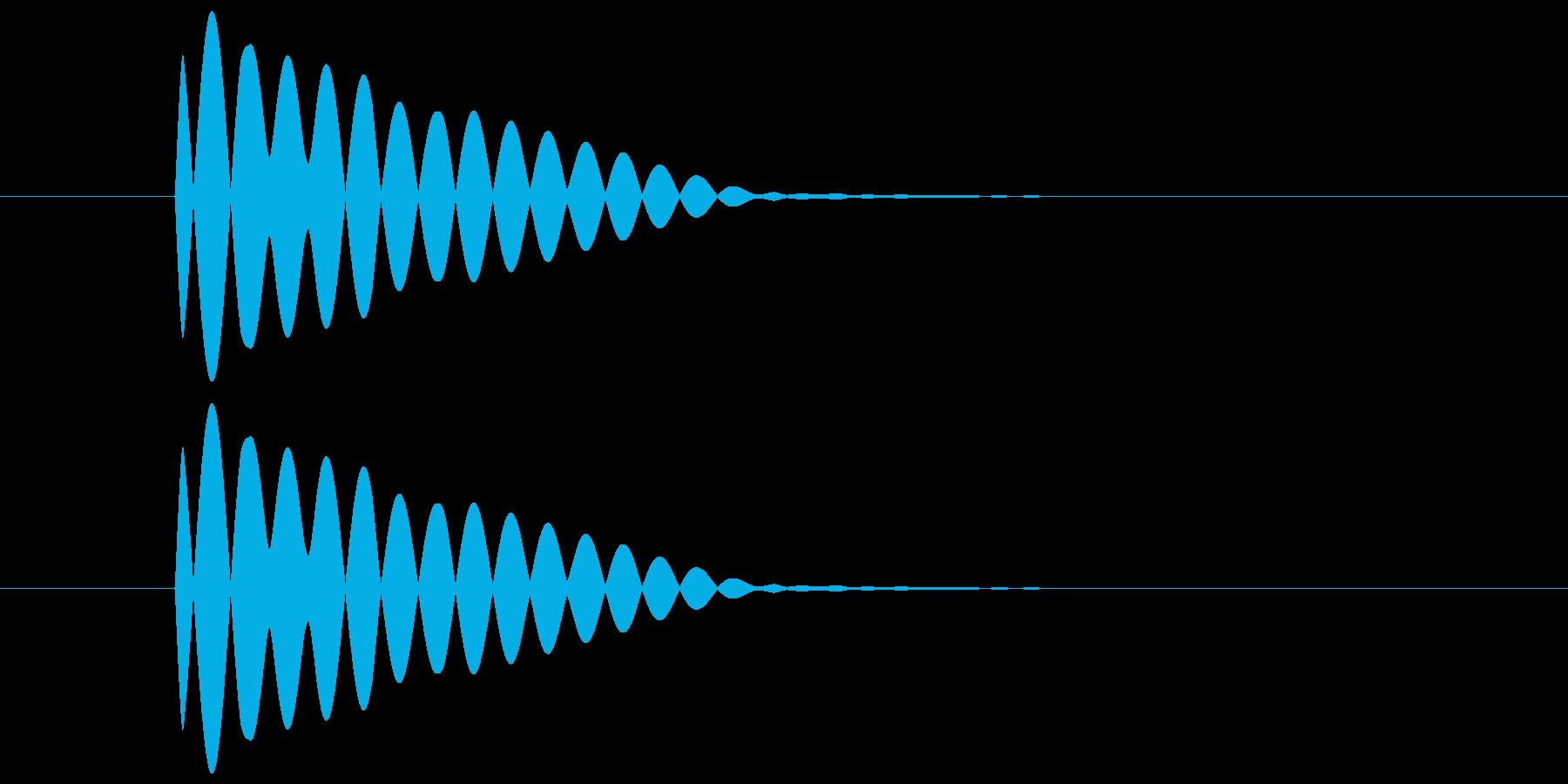 ポーン(透明感のある余韻のある音) 02の再生済みの波形
