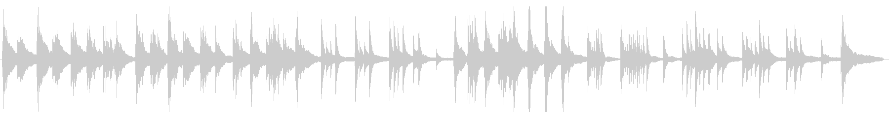 生ピアノの静かな曲の未再生の波形