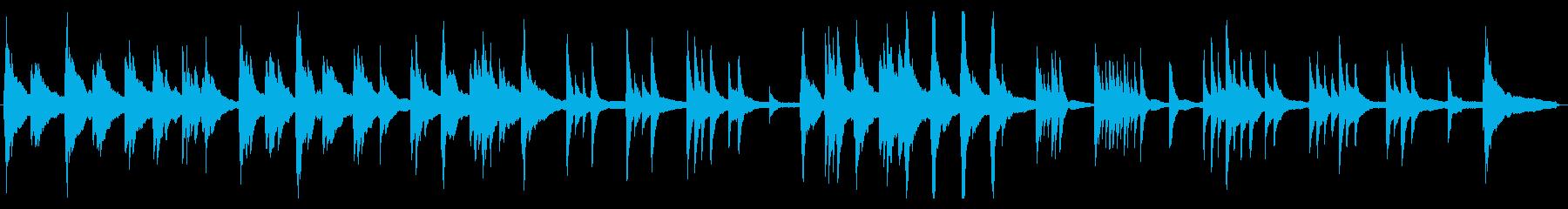 生ピアノの静かな曲の再生済みの波形