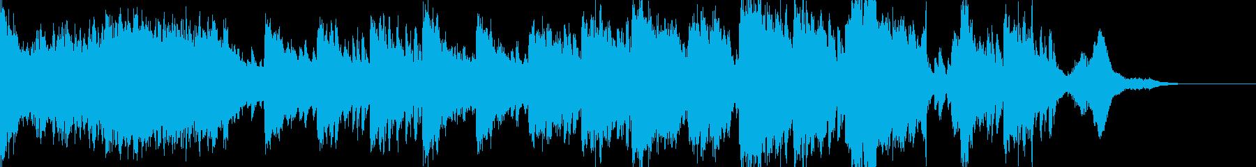 ピアノの和風テイスト激怖ホラーの再生済みの波形