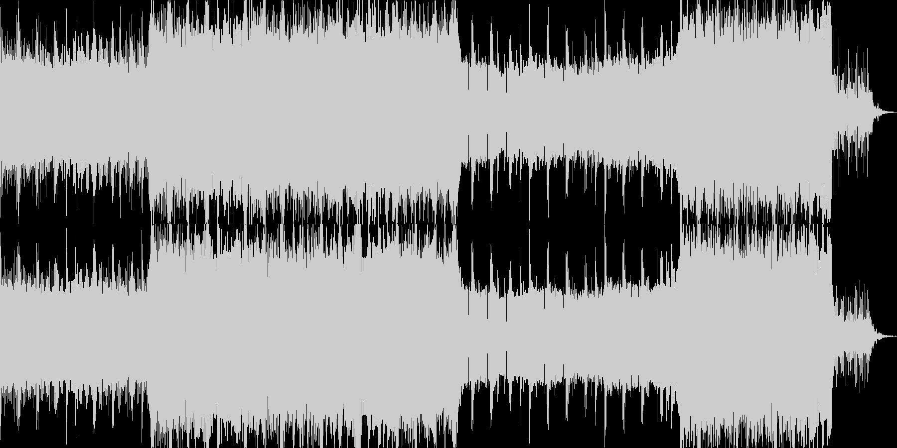 緊張感を与えるテクスチャー音楽の未再生の波形