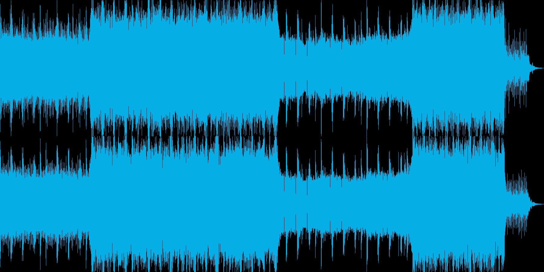 緊張感を与えるテクスチャー音楽の再生済みの波形