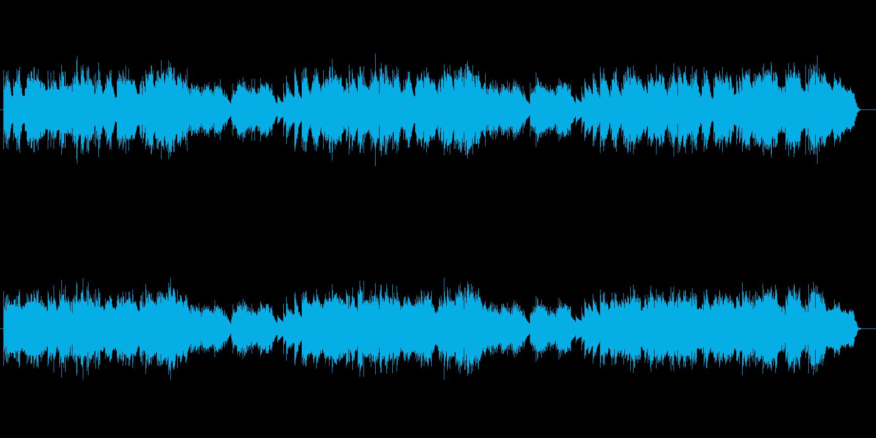 フルートの音色に愁いがある落ち着いた曲の再生済みの波形