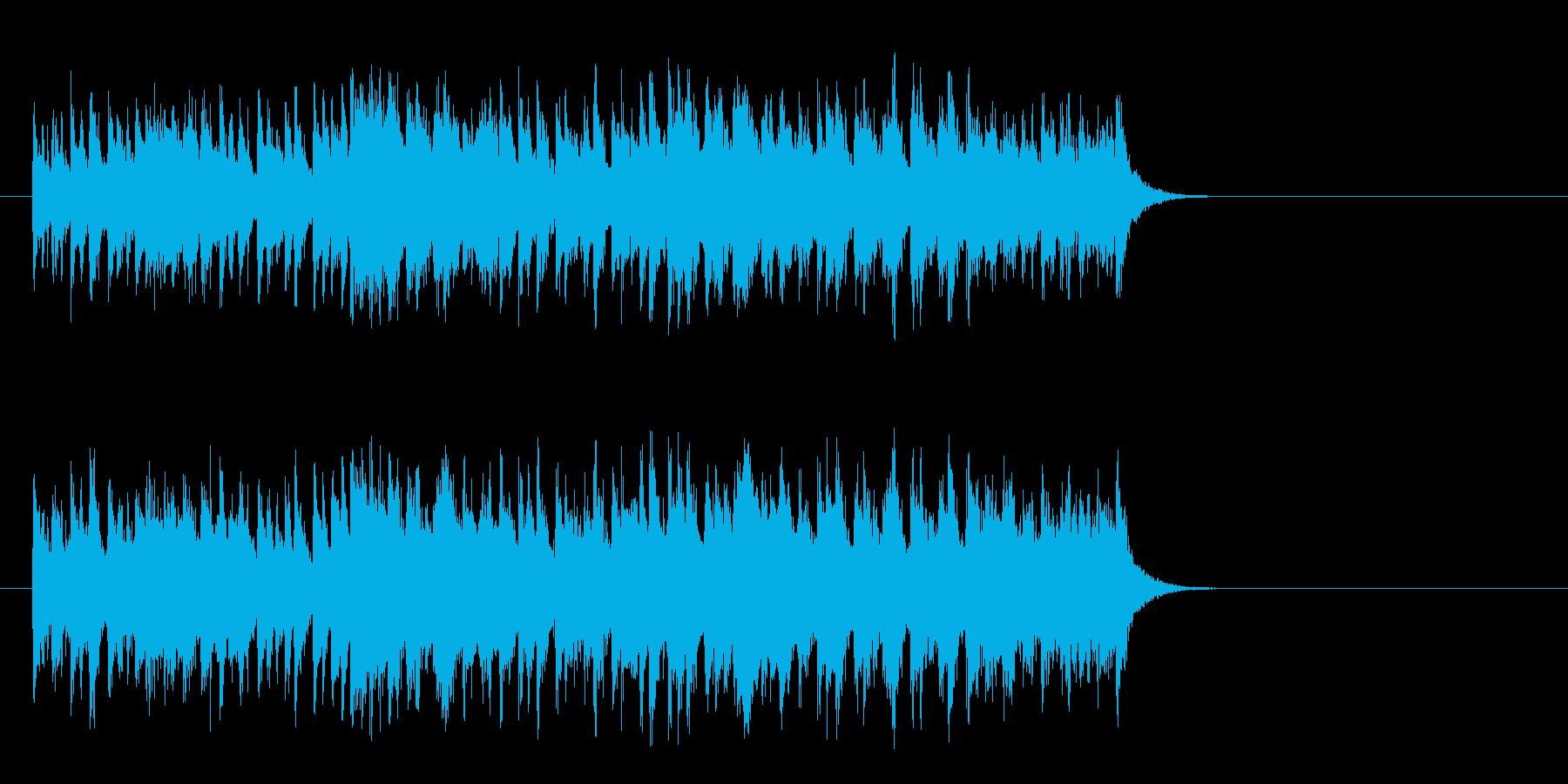 軽快なガールズポップス(Aメロ)の再生済みの波形