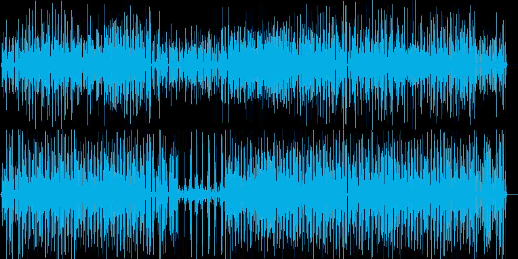ノリがいいアコースティックギターのデュオの再生済みの波形