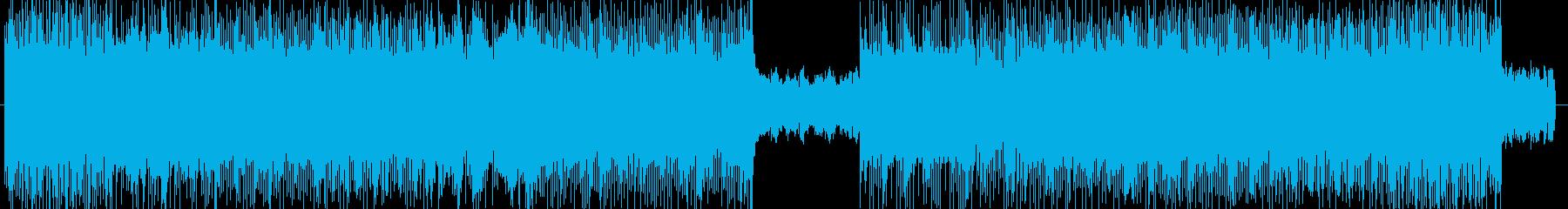 ダークなハードロック系の曲 BGM225の再生済みの波形