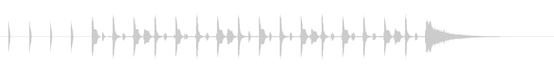 シンキングタイム約10秒ピコピコサウンドの未再生の波形