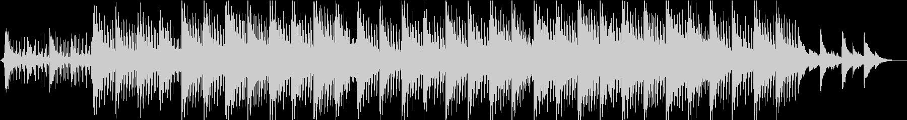 神秘的リラックス…雪のようなピアノの未再生の波形
