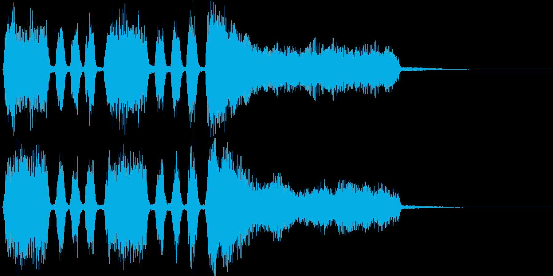 シンプルなファンファーレ(発表・登場)の再生済みの波形