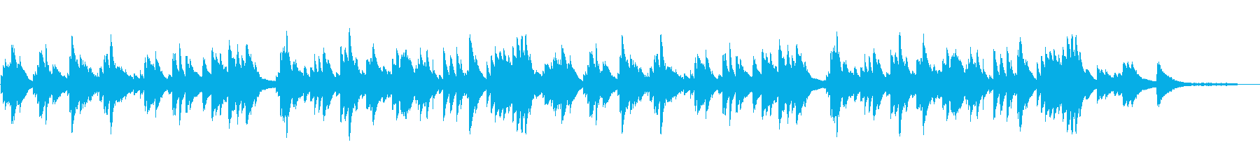 優しい雰囲気のピアノソロ テンポ速めの再生済みの波形