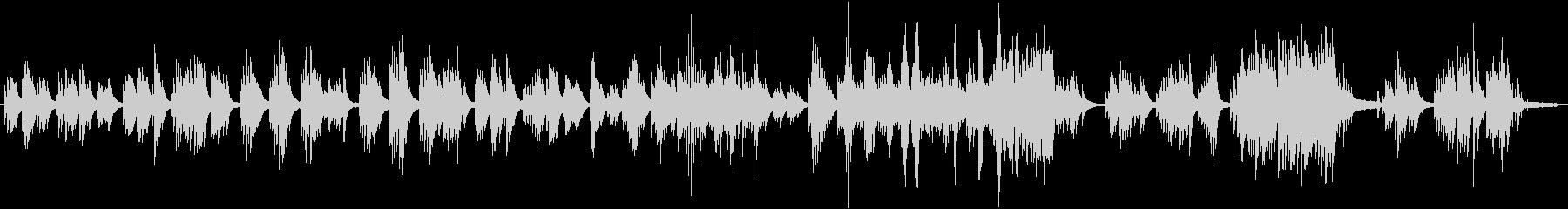 少し切ないピアノメロディ和風3拍子の未再生の波形