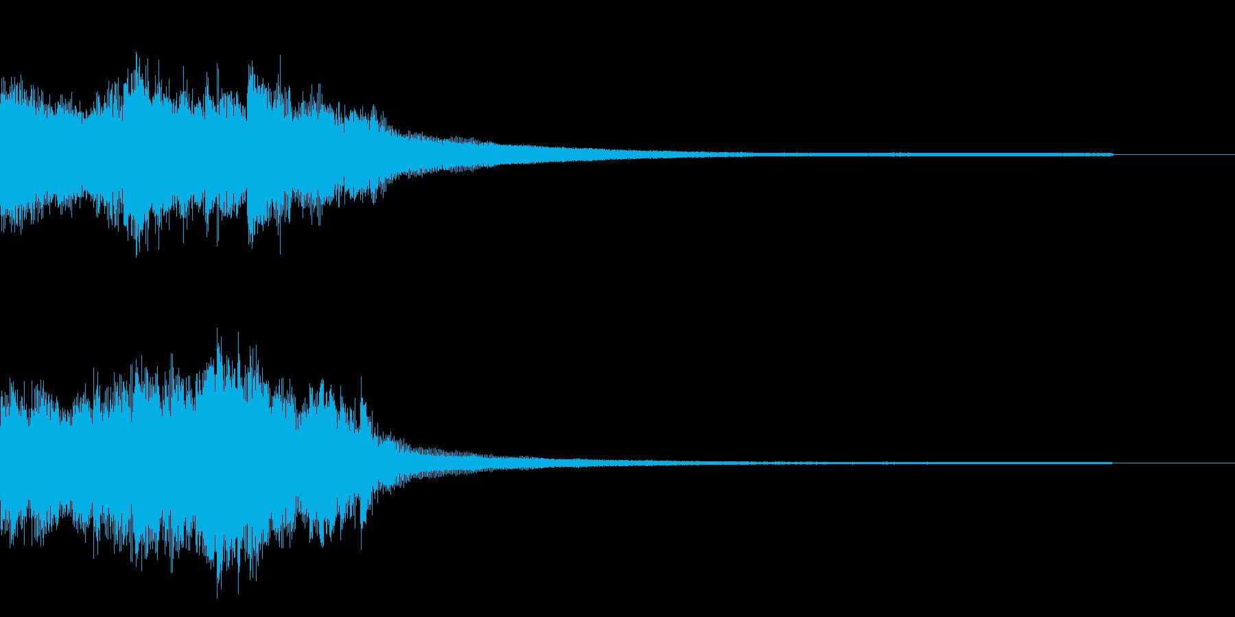 ピアノとストリングスによる重厚なジングルの再生済みの波形