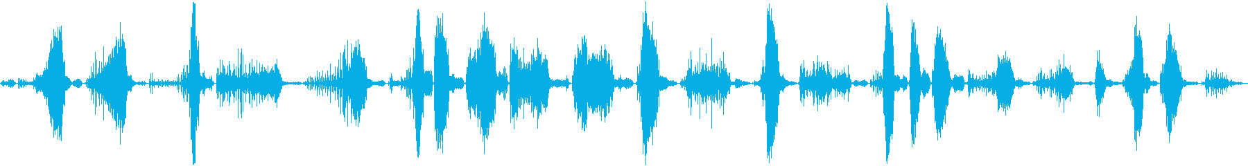 低めの成長とうなり声悪と超自然の声の再生済みの波形