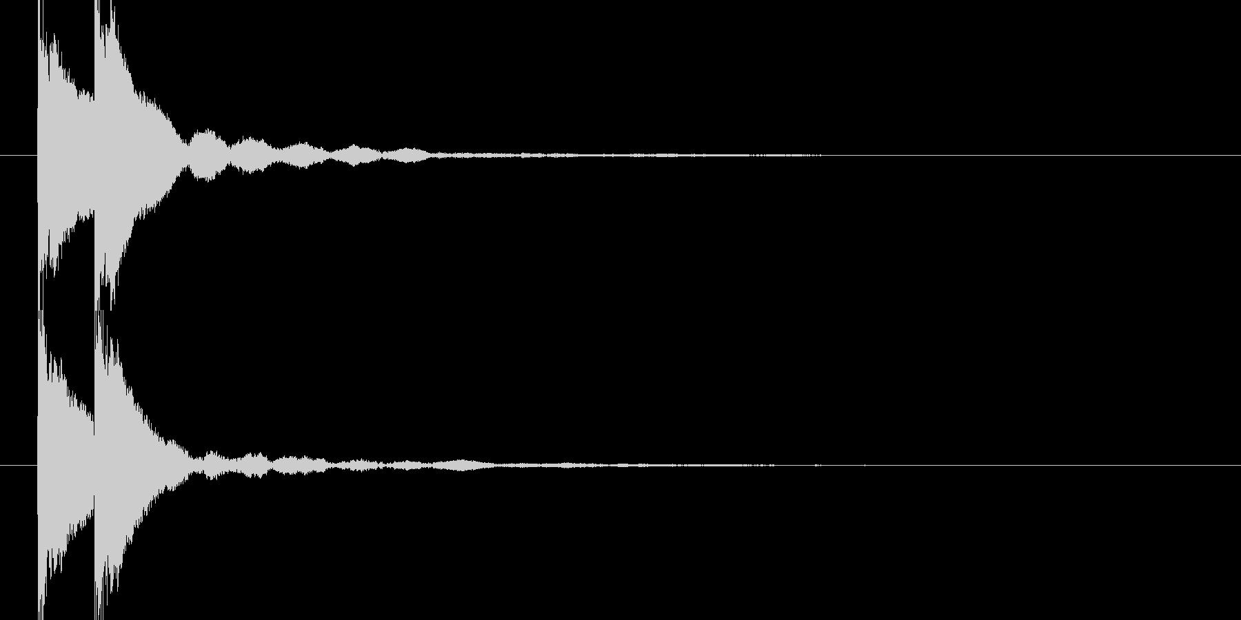 トントン(和風な太鼓)の未再生の波形