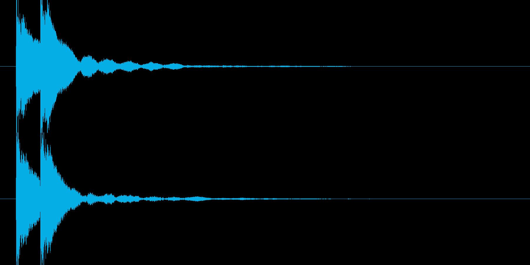 トントン(和風な太鼓)の再生済みの波形