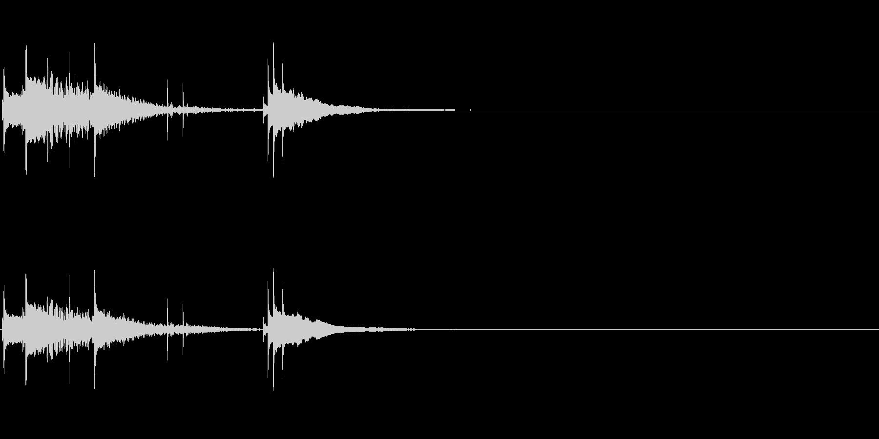 スマホやアプリの起動音の未再生の波形