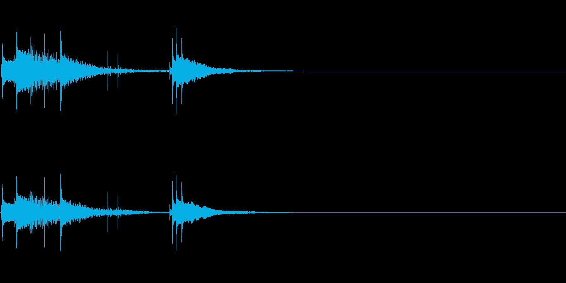 スマホやアプリの起動音の再生済みの波形