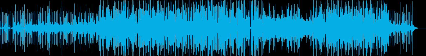 プレゼンや説明などクールで不思議な雰囲気の再生済みの波形